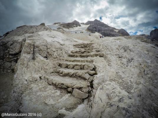 (Foto: Il ghiacciaio della Marmolada)