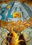 Illustrazione da passeggio : root - breve racconto illustrato - esercizio quotidiano di fantasia , meraviglia e inchiostro