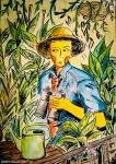 Illustrazione da passeggio : L 'esploratore domestico - breve racconto illustrato - esercizio quotidiano di fantasia, meraviglia e inchiostro