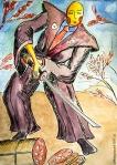 Illustrazione da passeggio affettato - Breve racconto illustrato - esercizio quotidiano di fantasia, meraviglia e inchiostro