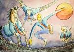 Illustrazione da passeggio : la corsa - Breve Racconto - Esercizio quotidiano di meraviglia