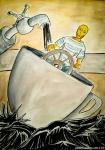 Illustrazione da passeggio : Una Tempesta - Breve illustrazione narrata - Racconto