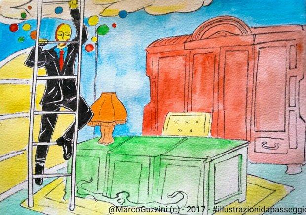 illustrazione da passeggio- cronaca di una fuga di colori - Bervi illustrazioni Narrate
